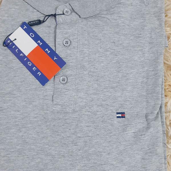 Camisa polo tommy algodão com elastano tamanho g única