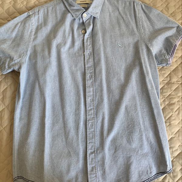 Camisa slim manga curta estilo jeans reserva