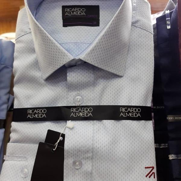 Camisa social ricardo almeida manga longa slim fit