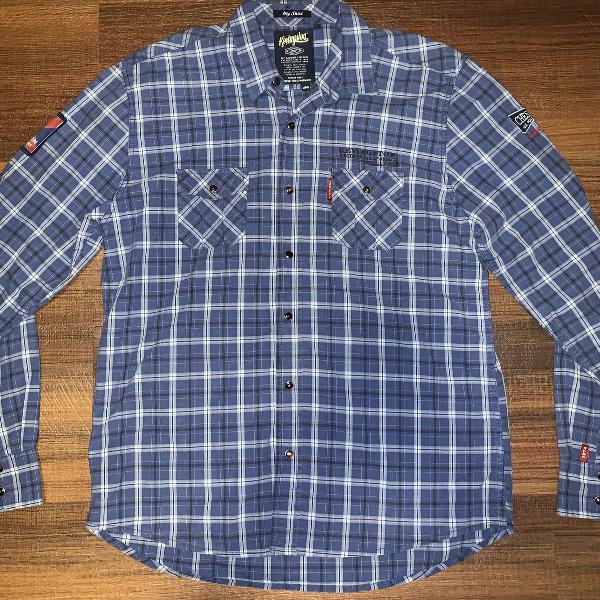 Camisa xadrez azul kevingston