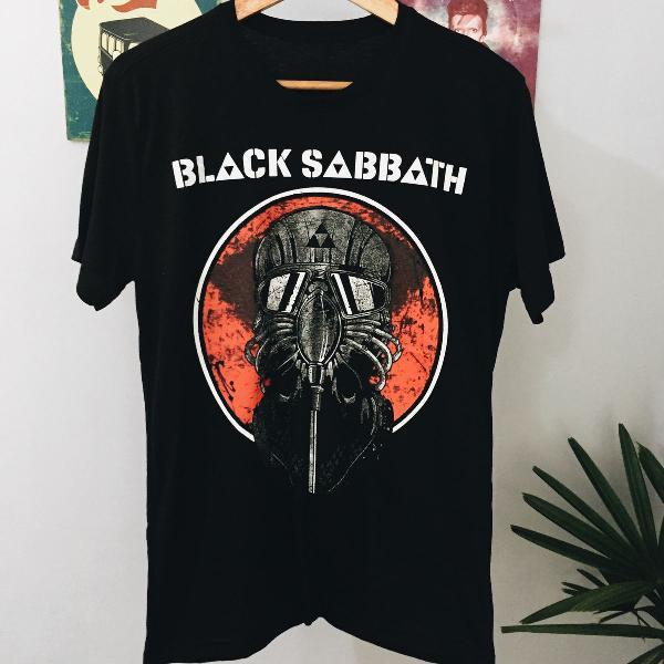 Camiseta black sabbath masculina
