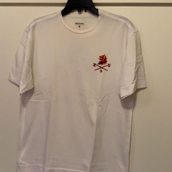 Camiseta masculina manga curta branca marca siberian