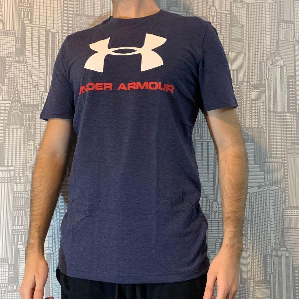 Camiseta under armour masculina azul tamanho p