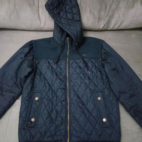 Casaco/jaqueta blue steel com capuz removível cor preta