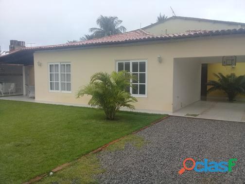 Ipioca cond. sauaçuhy casa terrea 4 qts 2 suites lazer completo
