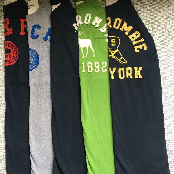 Kit 5 camisas abercrombie fitch