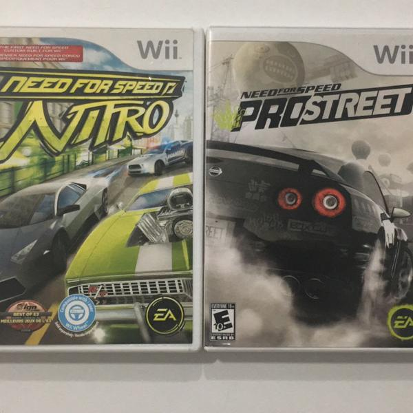 Need for speed: nitro + need for speed: prostreet (wii)