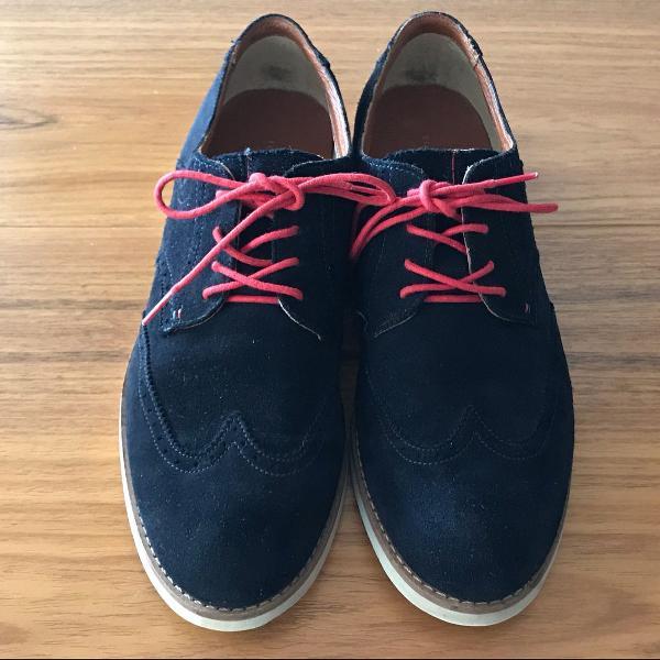 Sapato oxford azul tommy hilfiger