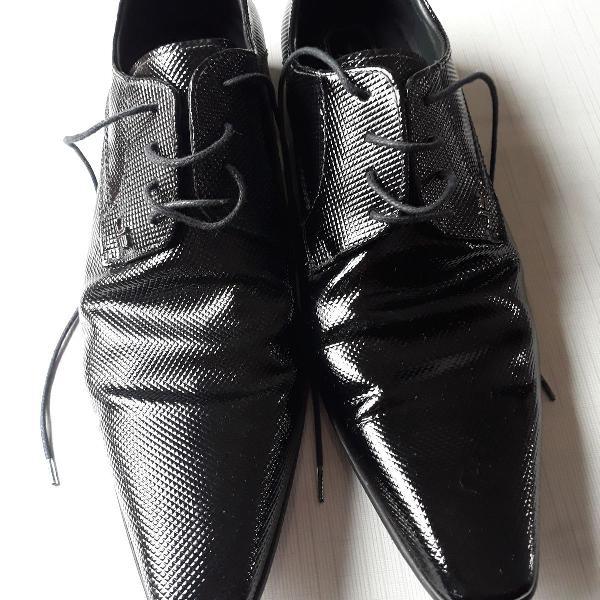 Sapato social couro preto