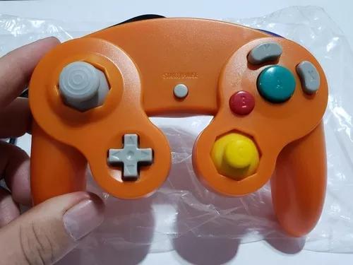 Controle game cube e nintendo wii cor laranja gamecube