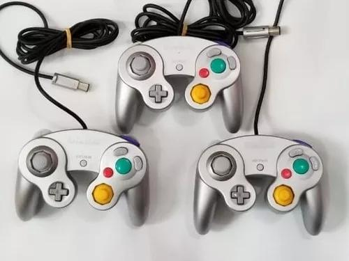 Controle original nintendo gamecube cinza