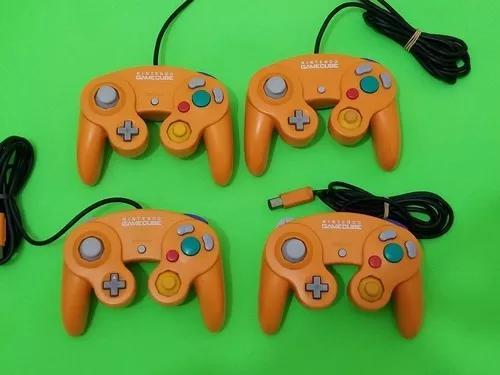 Controle original nintendo gamecube laranja.