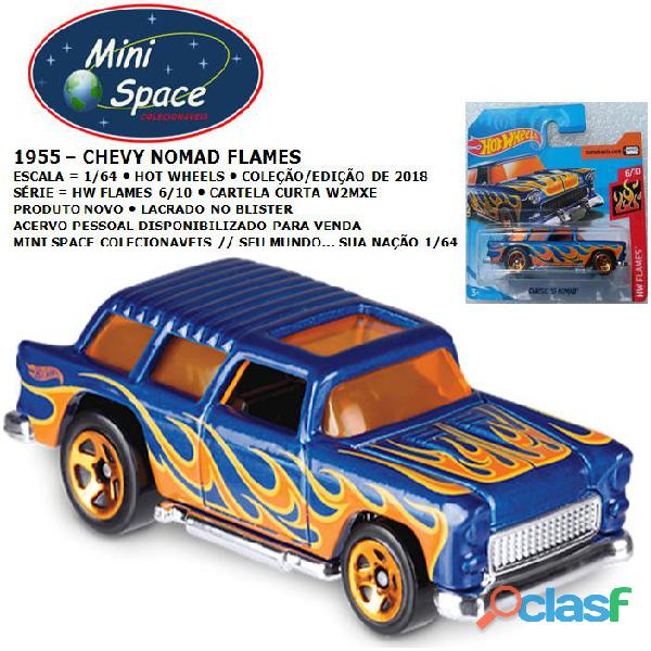 Hot wheels 1955 chevy nomad wagon flames 1/64