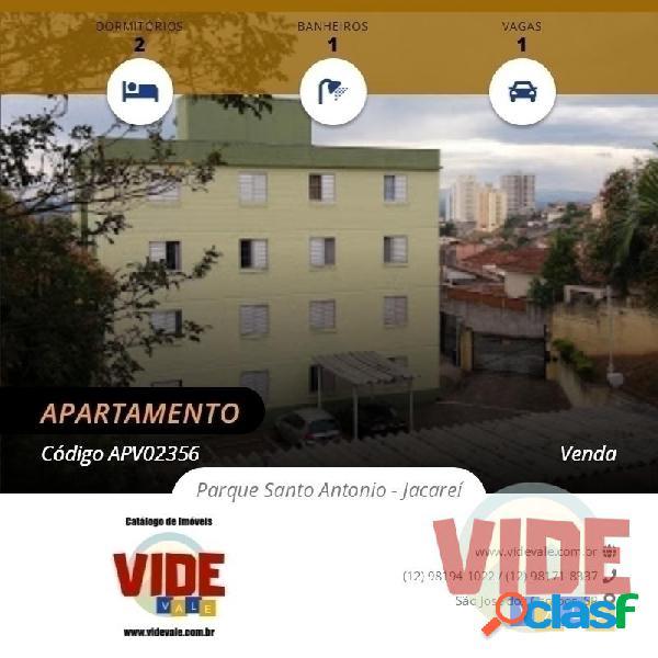 Apartamento 2 dormitórios, 52 m², 1 vaga, na região central de jacareí