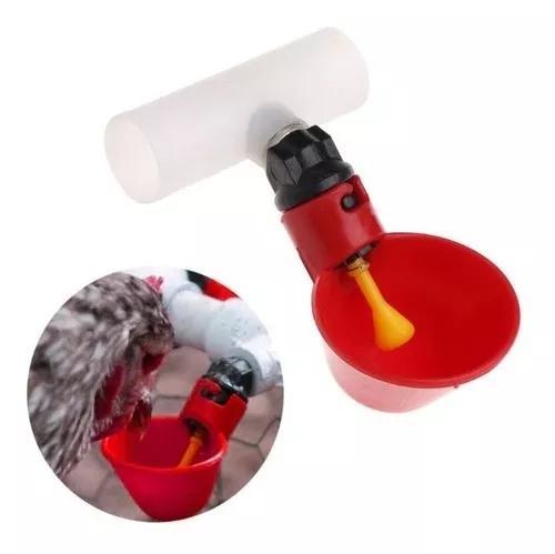 5 bebedouros automático copinho p galinha aves + tee 20mm