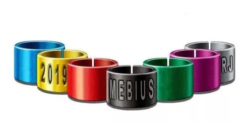 Anilhas canário da terra 2,8mm coloridas personalizadas de