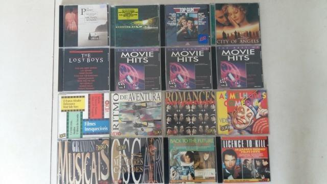 Cds usados - pacote c/ 16 cds - trilhas sonoras /