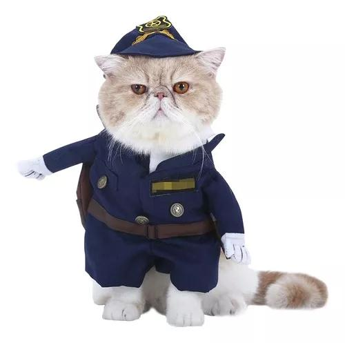 Cachorro roupas polícia para animais de estimação roupa