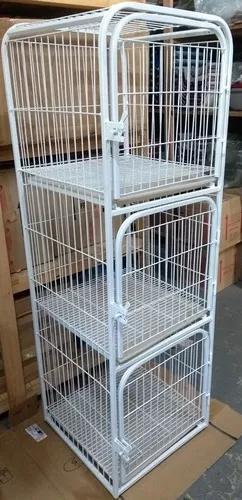 Canil Gatil Jaula Vertical Petshop 3 Lugarres Cães Gatos