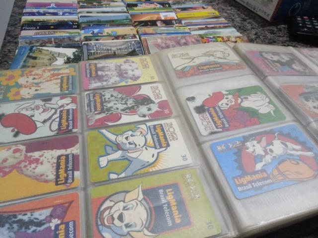 Coleção de cartões telefônicos antigos