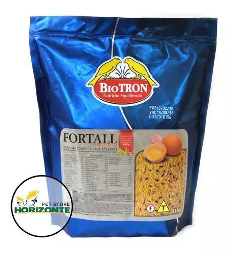 Fortall 1kg - farinhada de ovo seca para pássaros - biotron