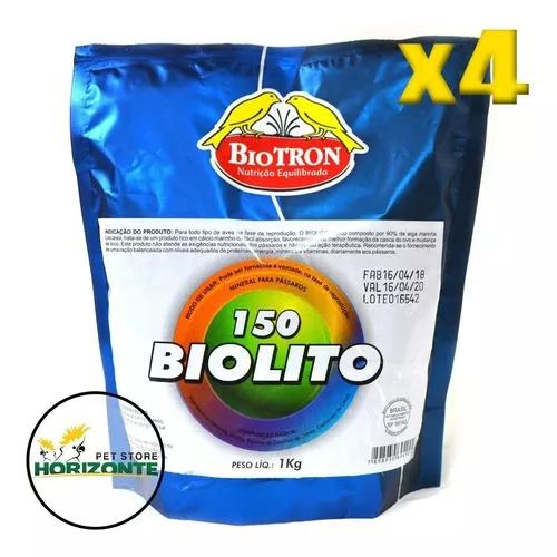 Kit 4 biolito 150 - 1kg - mineral com algas marinhas biotron