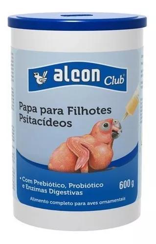 Kit c/ 03 alcon club papa p/ filhotes psitacídeos 600g