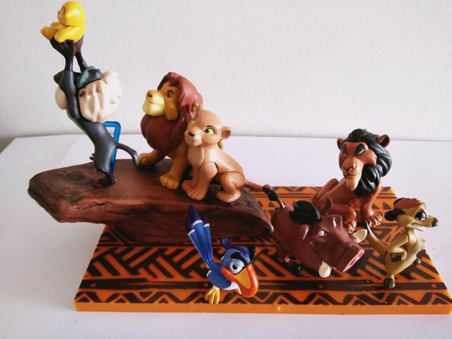 Kit miniaturas disney rei leão