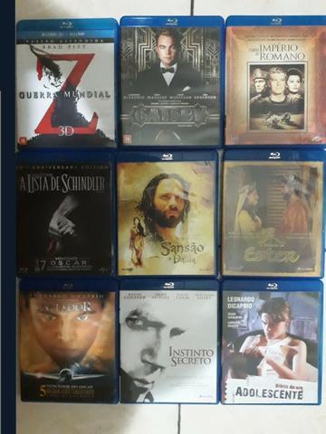 Lote de 9 filmes em blu-ray de coleção impecável