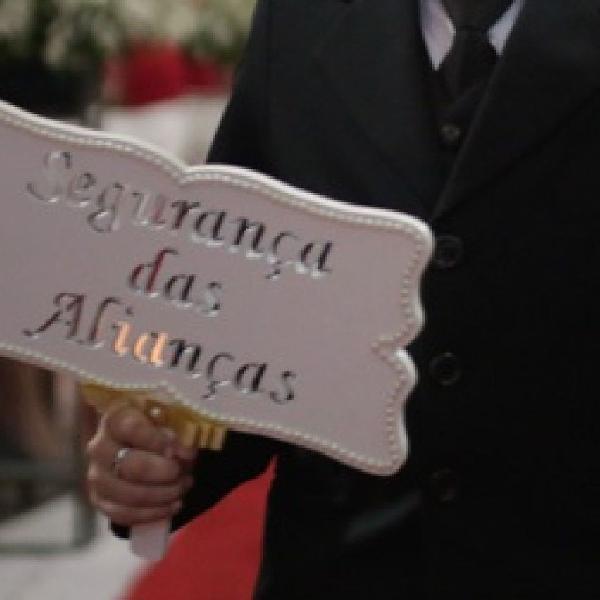 Plaquinha mdf para cerimonia de casamento