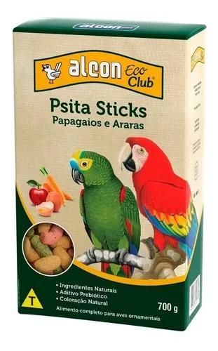 Ração alcon eco club pássaros psitacídeos sticks - 650g