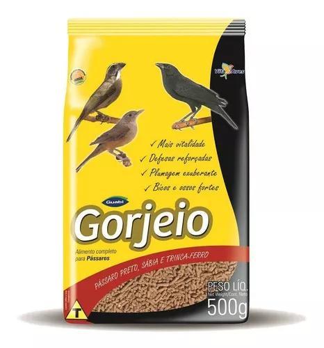 Ração gorjeio para pássaro preto, sabiá e trinca ferro
