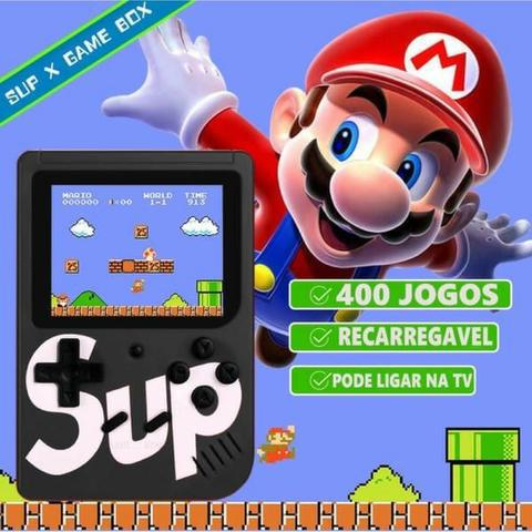Vídeo game portátil com suporte para tv e bateria