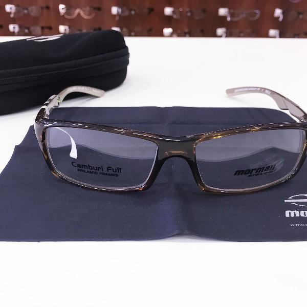 Armação óculos mormaii 1234 475 acetato marrom masculino