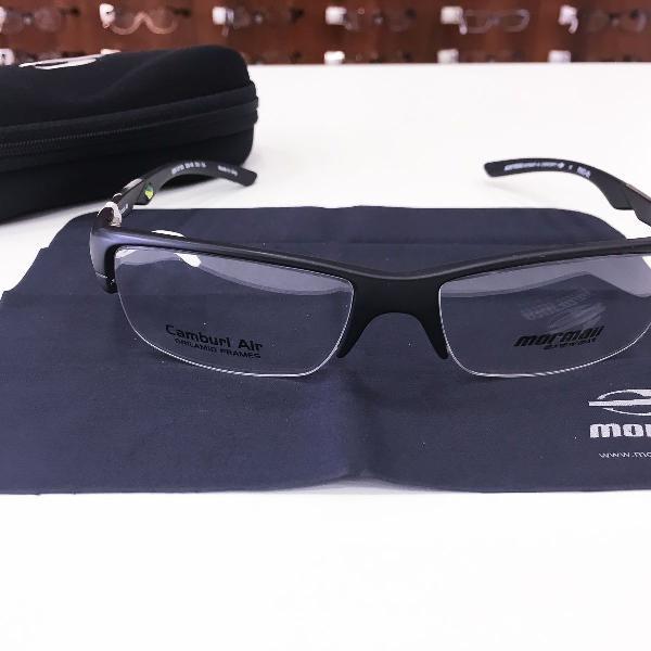 Armação óculos mormaii 1235 117 acetato preto masculino