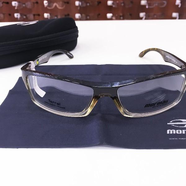 Armação óculos mormaii 1400 182 acetato marrom masculino