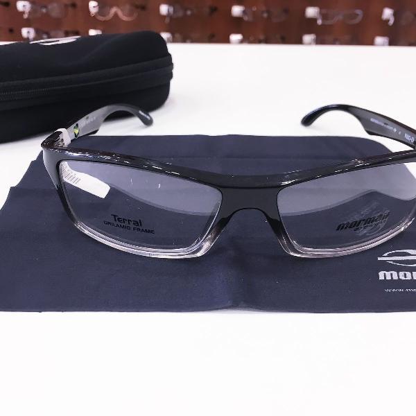 Armação óculos mormaii 1400 186 acetato preto masculino