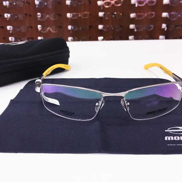 Armação óculos mormaii 1534 431 titanium masculino