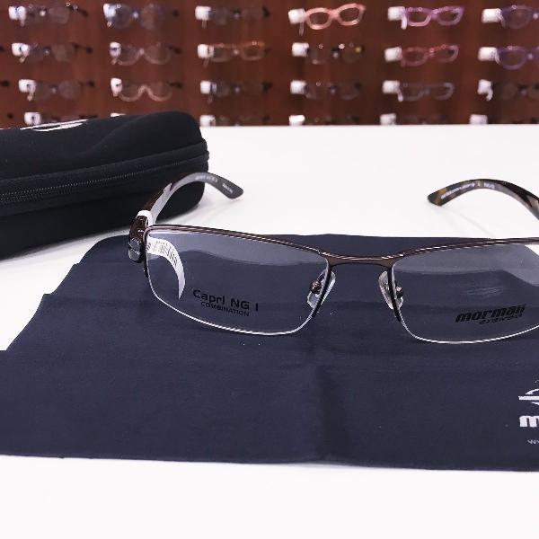 Armação óculos mormaii 1600 061 metal marrom masculino