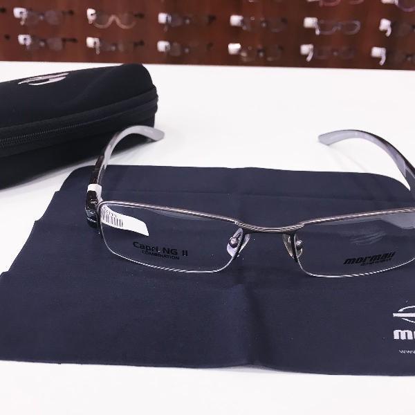 Armação óculos mormaii 1601 191 metal preto masculino