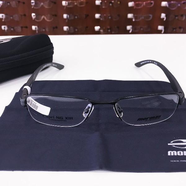 Armação óculos mormaii 1618 485 metal preto masculino