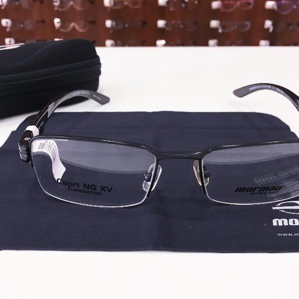 Armação óculos mormaii 1620 482 metal preto masculino