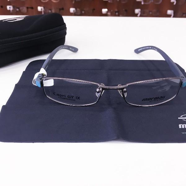 Armação óculos mormaii 1624 524 metal cinza azul