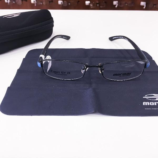 Armação óculos mormaii 1624 526 metal preto azul