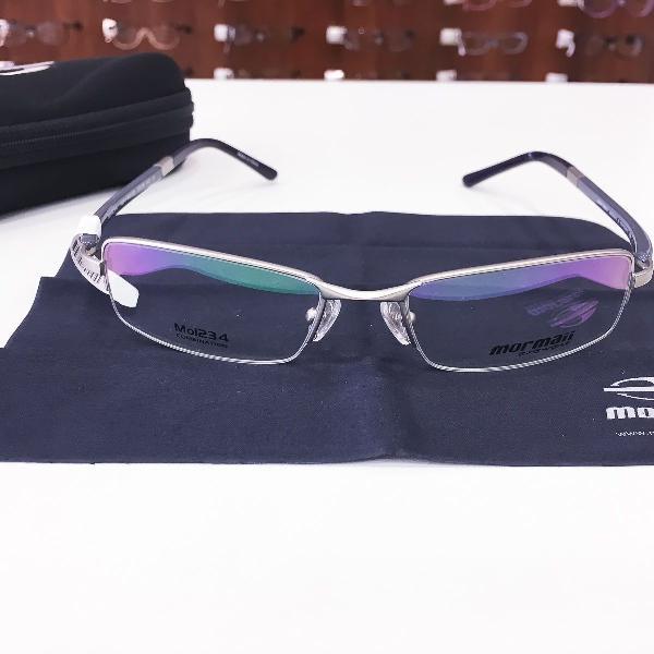 Armação óculos mormaii mo1234 812 metal prata masculino