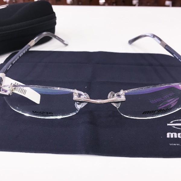 Armação óculos mormaii mo1236 812 metal grafitte