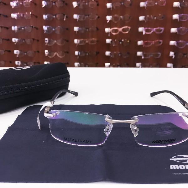 Armação óculos mormaii mo1518 077 metal prata masculino