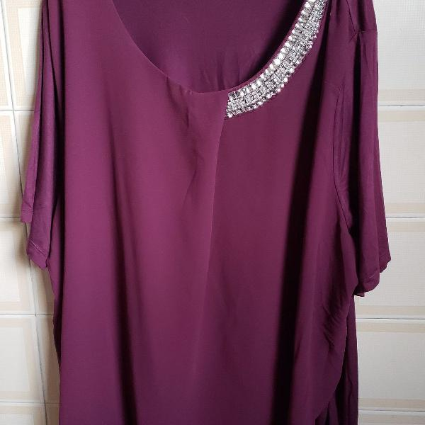Blusa roxa ,tamanho xxg.