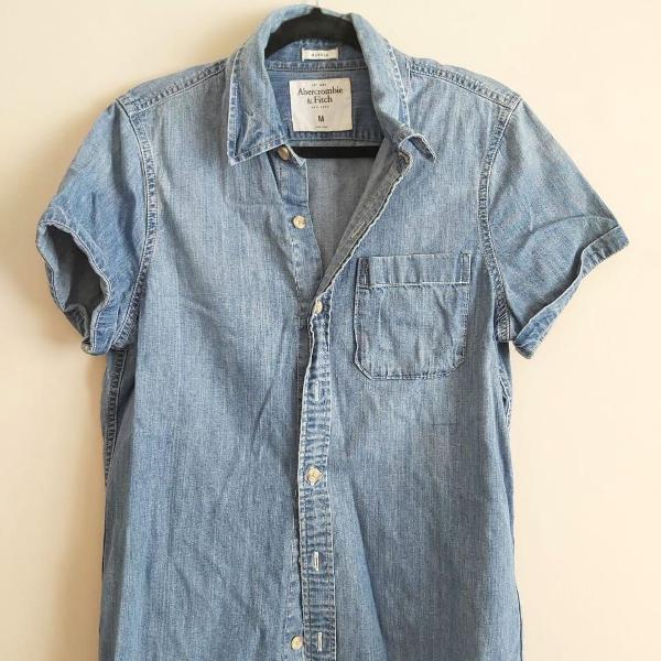 Camisa jeans abercrombie & fitch muscle