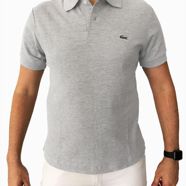 Camisa masculina polo - lacoste - cinza
